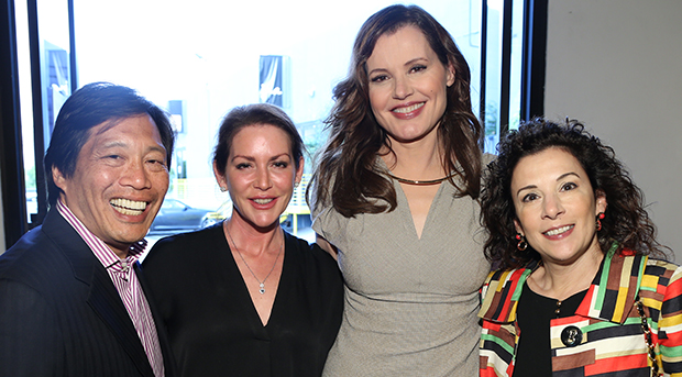 Andy Wing, Jodi Wing, Geena Davis and Madeline Di Nonno
