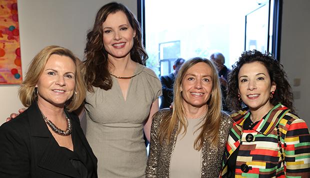 Gabriella Colantoni, Geena Davis, Madeline Di Nonno and Franca Virgili