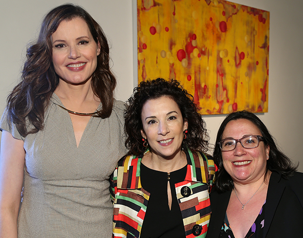 Geena Davis, Madeline Di Nonno and Melissa Silverstein