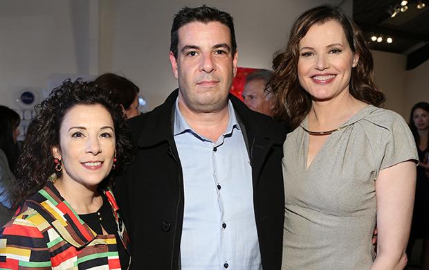 Madeline Di Nonno, Vincent Bruzzese and Geena Davis