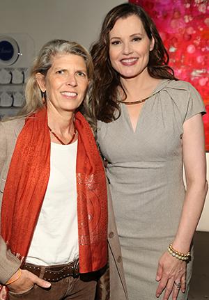 Mimi Gitlin and Geena Davis