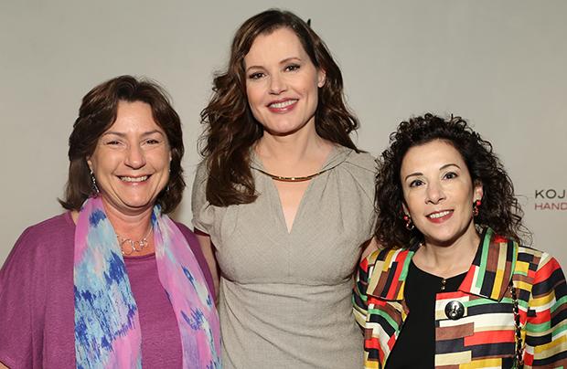 Nancy Seruto, Geena Davis and Madeline Di Nonno