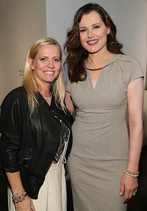 Veronica Zelle and Geena Davis