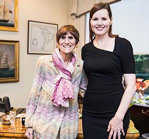 Geena Davis and Congress Woman Rosa DeLauro
