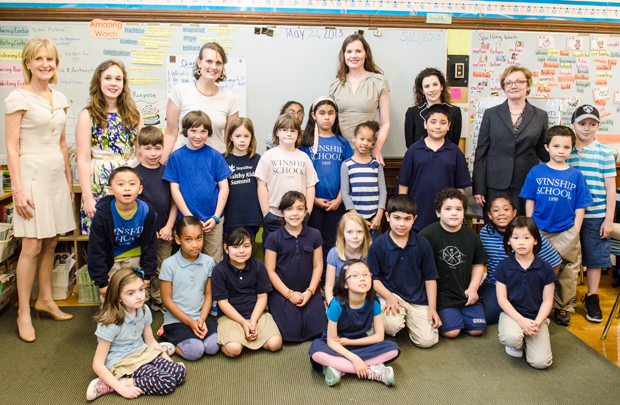 Geena Davis Visits Winship School