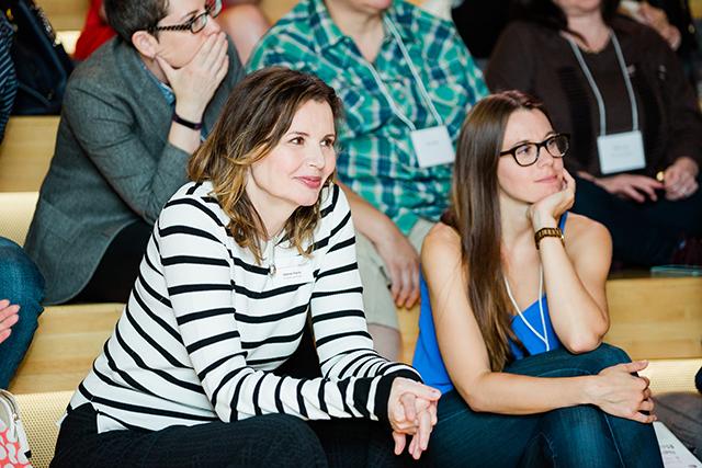 Geena Davis with audience