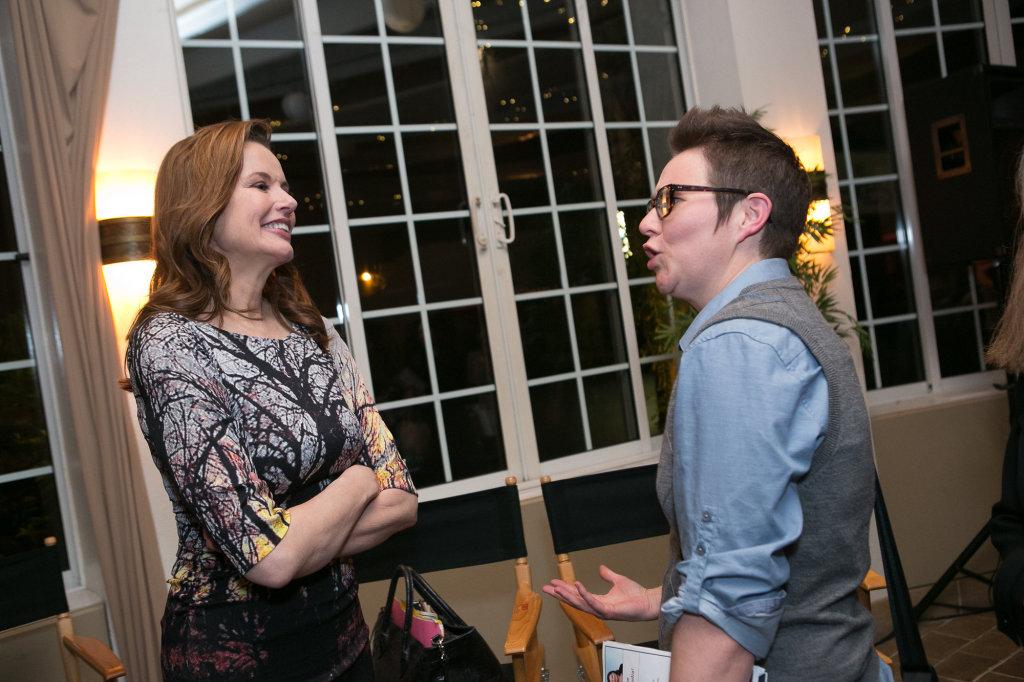 Geena Davis & Kelly Kessler (DePaul University)