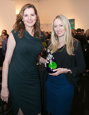 Geena Davis and Katie O'Connor