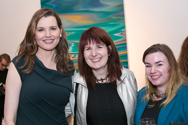 Geena Davis, October Crifasi and Leonie O'Moore