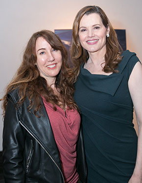 Geena Davis and Kia Colton