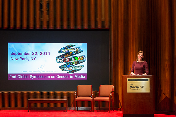 Gender on Media Global Symposium, New York City, Geena Davis