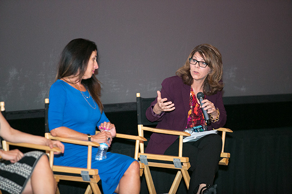 Gender on Media Global Symposium 2014, Los Angeles,  Camela Galano, President, Relativity International and Dr. Stacy Smith, Associate Professor, USC Annenberg