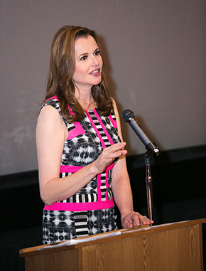 Gender on Media Global Symposium 2014, Los Angeles, Geena Davis