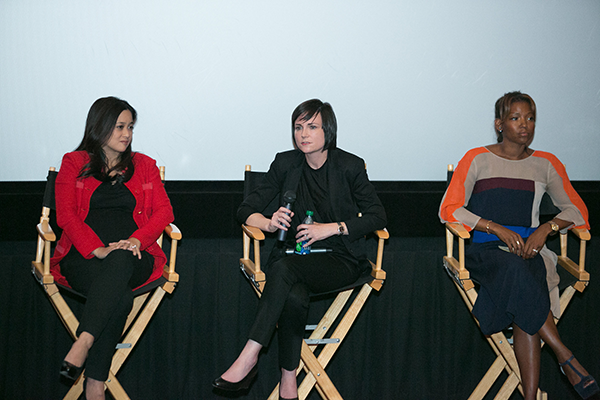 Gender on Media Global Symposium 2014, Los Angeles, Lareina Yee, Partner, McKinsey & Company, Elissa Murphy, CTO, GoDaddy, Nikkole Denison-Randolph, VP, Specialty & Alternative Content, AMC Theatres