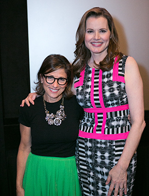 Gender on Media Global Symposium 2014, Los Angeles, Nina Tassler, Chairman, CBS Entertainment and Geena Davis