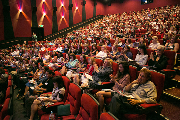 Gender on Media Global Symposium 2014, Los Angeles, packed theatre
