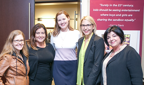 Maggie Malone, Michelle Raimo Kouyate, Geena Davis, Amy Talkington and Susan Cartsonis