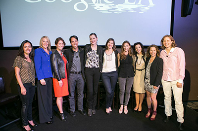 See Jane Salon - Andrea Fernandez, Dr. Kathy Magliato, Taryn O'Neill, Geena Davis, Jaime Paglia, Christina Reynolds, Amanda Segel, Madeline Di Nonno, Laura Faye Tenenbaum and Moderator, Megan Smith